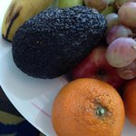 Very old fruit plate to welcome hani royal hotel guests. This was for room 610. The royal suite.