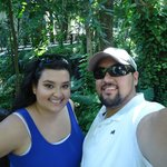 My Husband and I in the garden area in between our room and lobby