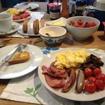 Hugh's enormous breakfast kept us going all day!