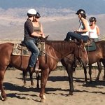 About to ride out on Rocky at Sundance Guest Ranch.