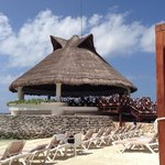 Our beach bar and lagoon