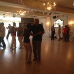 Social Foxtrot Lesson in the Ballroom