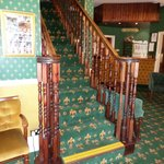lovely old stairs and open reception area