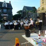 St Keverne Band playing outside The Three tuns