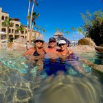 traveling with friends at Me Cabo pool
