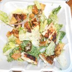 Blacken Chicken Cesar Salad - to go.