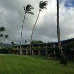 The evening before Hurrican Iselle was to hit Maui. This is the view of our building from the la