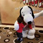 Snoopy visiting the resort