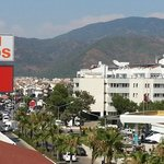 This is how close Migros & MCD are; view from our balcony towards Marmaris.