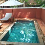 Private plunge pool on terrace of villa