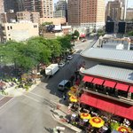 View of Mariano park and Tavern on Rush from Thompson