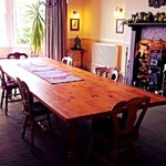 large dining table and room