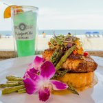 Enjoy fine dining oceanside