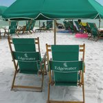 Beach Umbrella set up