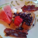 Breakfast day 2 - french toast, maple caramelized bacon