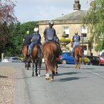 Race horses through Masham