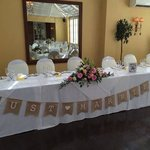 Main wedding table