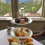 Magical Afternoon High Tea Overlooking Banff Mountainscape