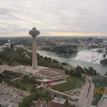 City view of Sheraton, Clifton St tourist area, Skylon Tower and U.S. Falls