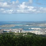 Honolulu airport and downtown from Puu Ualakaa State Park viewpoint