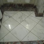 Beautiful marble in bathrooms