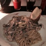 Chicken fettuccine with mushrooms