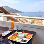 Breakfast and view