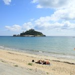 Nearby beach and St Michael's Mount