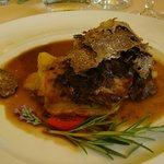 Veal with truffles entree