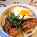 Delicious Rosti with an egg and bacon!