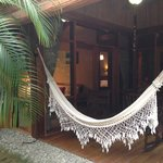 Our hammock on the patio