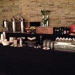Coffee bar in meeting room