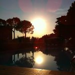 Sunset at the pool at Palazzo Astolfi