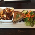 Tourtière special of the day. Included mini salad and mini poutine.