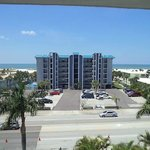 Unfortunately, another hotel intrudes on what could be a spectacular view of the beach and Gulf.