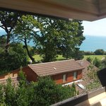 View over our garden to the sea in our annex :)