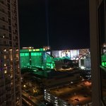 view of Vegas from our room
