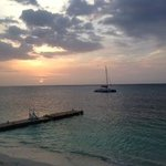 Sunset over Sandals MB beach July 2014