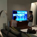 75 inch samsung with built-in retractable camera