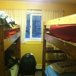 Four person bunk room.