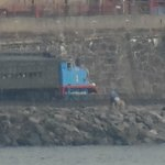 Thomas the train travelling in Duluth