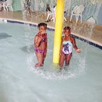 My daugther and granddaugther at the pool.