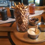 'Tear for Eddie' pretzels with beer mustard, Soft Parade jelly & peanut butter, and beer cheese
