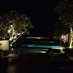 Level 8 pool by night