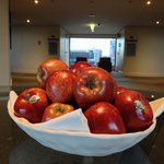 Apples at Lift Lobby