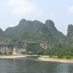 view from boat on Li river