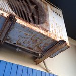 The rusted and non working air con