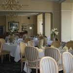 The hotel dining room