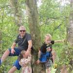 Climbing the trees in Portumna Forest Park
