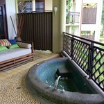 Relaxation area by balcony